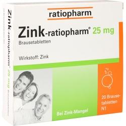 ZINK RATIOPHARM 25MG